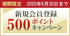 新規会員登録500ポイントプレゼントキャンペーン
